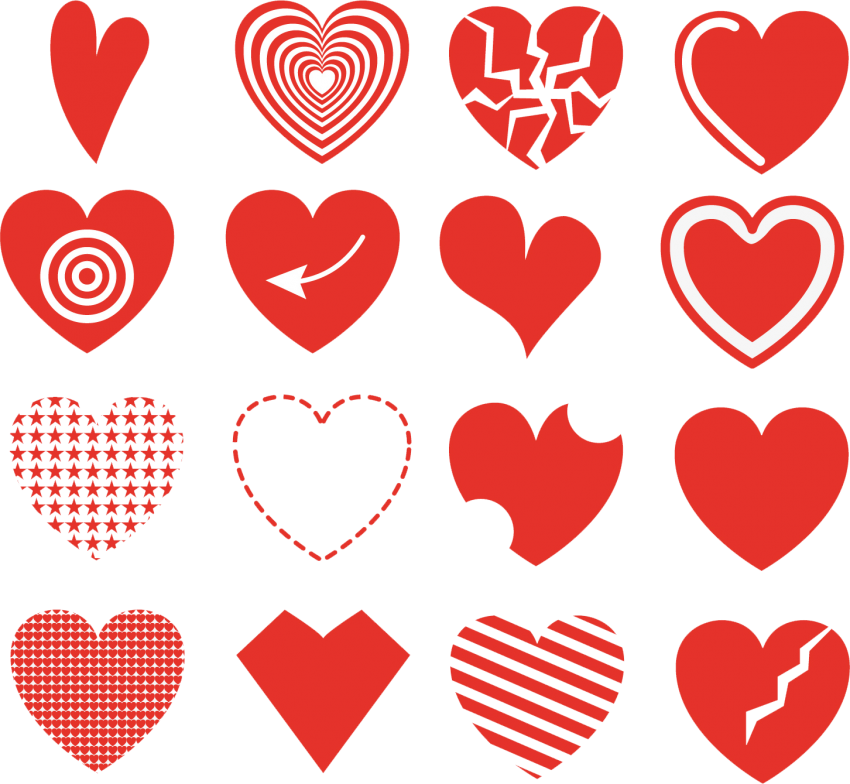 Artistic Hand Drawn Hearts Collection PNG - PNG #243 ...
