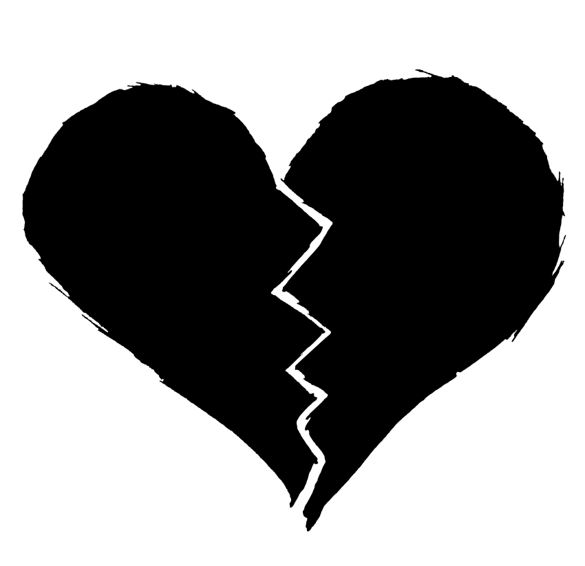 Heartbeat Png Transparent Black: Broken Black Heart Vector