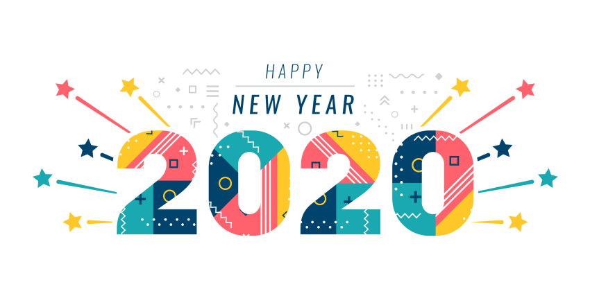 happy new year 2020 - PNG #1096 - Free PNG Images   Starpng