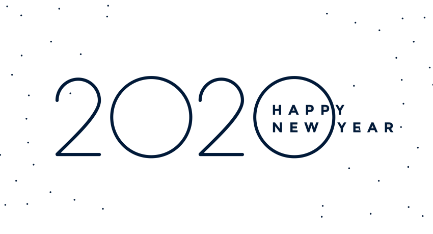 Happy New Year 2020 logo text design PNG - PNG #1082 ...